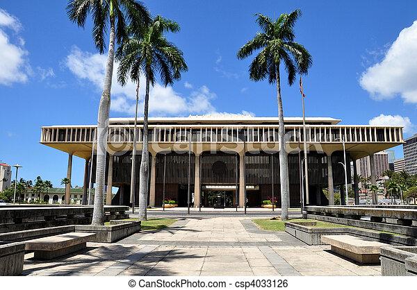 Hawaii State Capitol Building - csp4033126