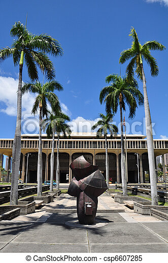 Hawaii State Capitol Building - csp6607285