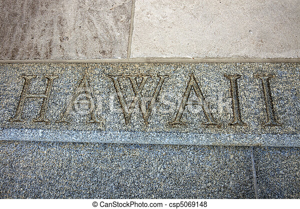 Hawaii word on the stairs - csp5069148