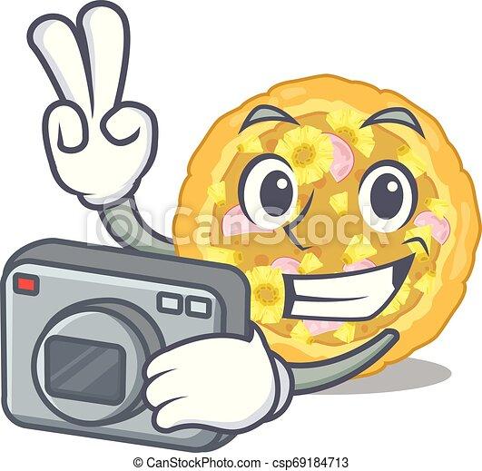 hawaiian , φωτογράφος , αντίτυπον χαρακτικής , υπηρέτησα , γελοιογραφία , πίτα με τομάτες και τυρί  - csp69184713