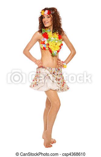 Sexy hula girl costume
