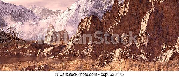 Hawk in the Rockies - csp0630175