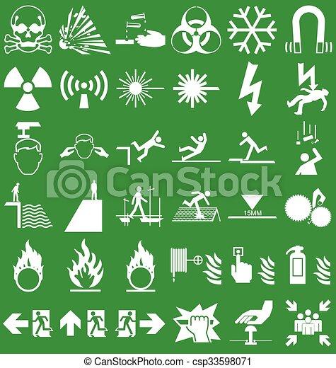 Hazard and danger Graphics - csp33598071