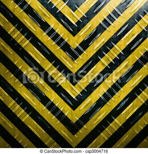 Hazard Stripe Diamond Plate - csp3004716