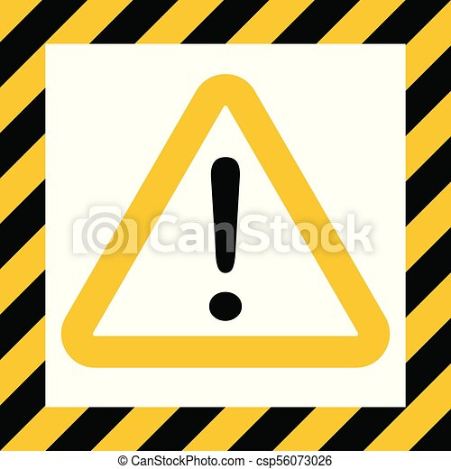 Hazard Symbol Sign Exclamation Mark Warn Caution Construction