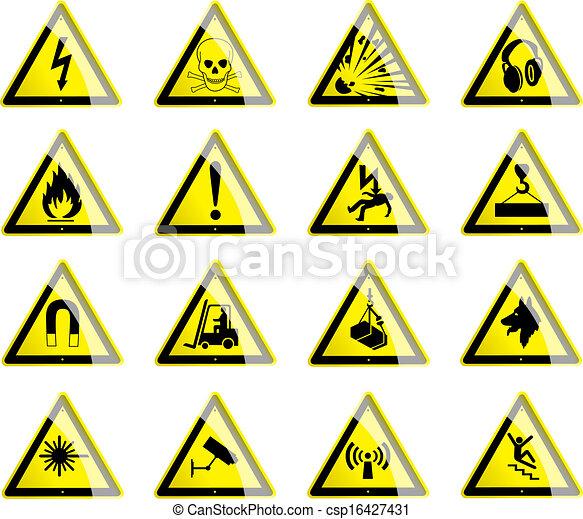 Hazard Symbols Symbols Displaying Hazard And Danger Signs