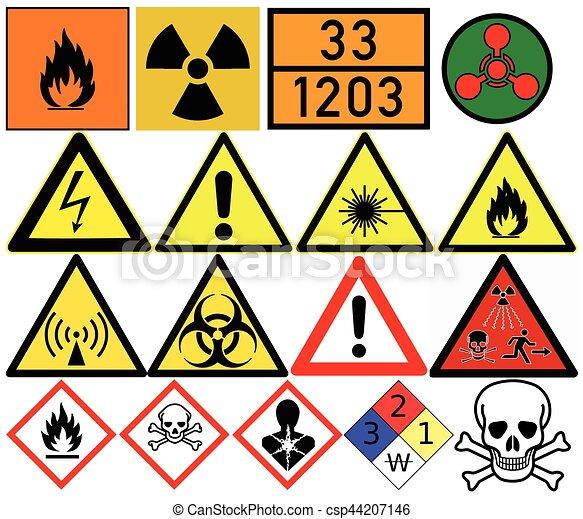 Hazard Symbols Generic Caution Poison Radiation Biological