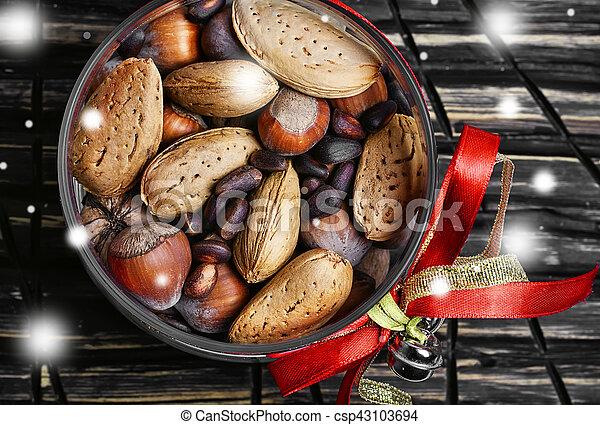 Hazelnuts for Christmas - csp43103694
