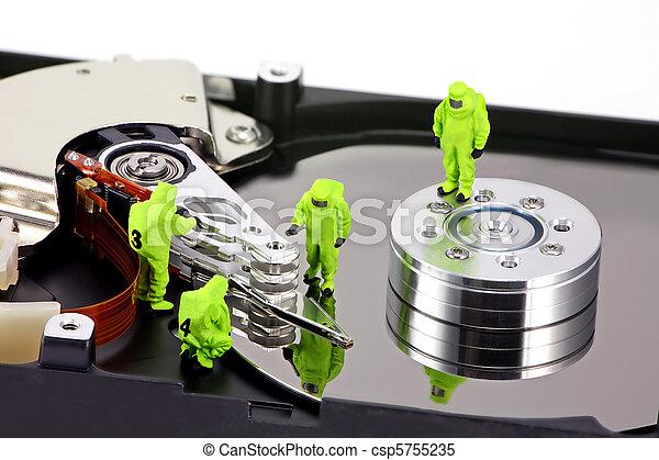 hazmat, commande dure, virus, inspection, équipe - csp5755235