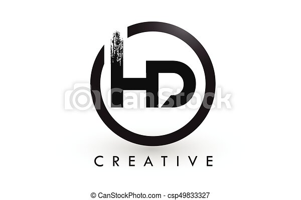 Hd Brush Letter Logo Design Creative Brushed Letters Icon Logo Hd
