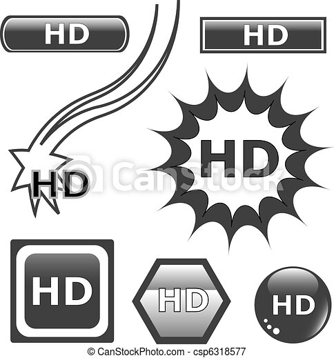 HD glossy web button set - csp6318577