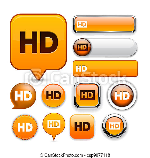 HD high-detailed web button collection. - csp9077118