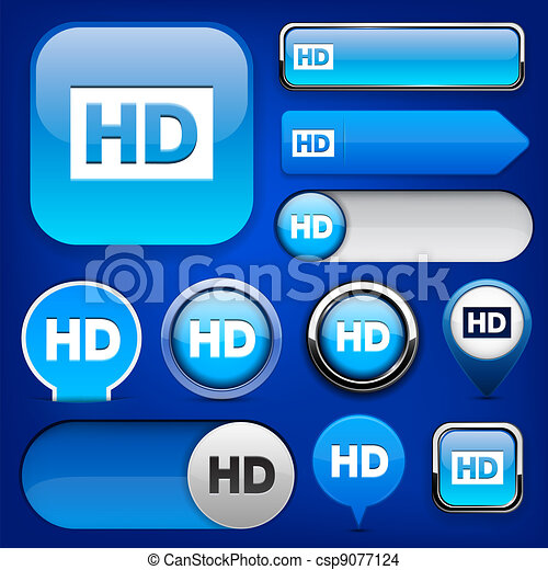 HD high-detailed web button collection. - csp9077124