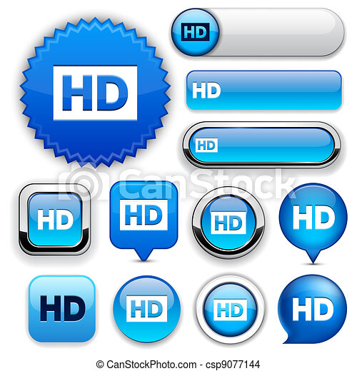 HD high-detailed web button collection. - csp9077144