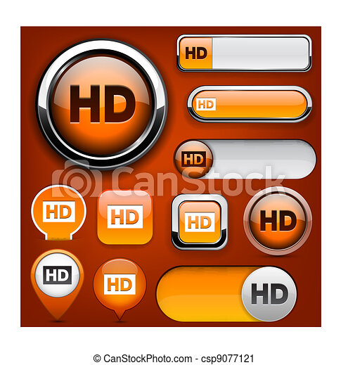 HD high-detailed web button collection. - csp9077121