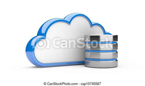 hdd, concept, wolk, databank - csp10745567