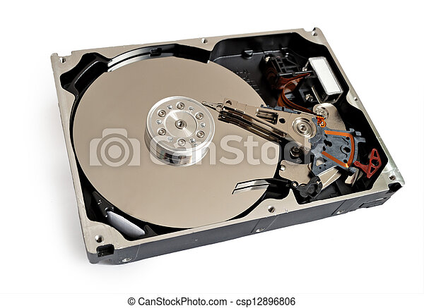hdd of computer isolated - csp12896806