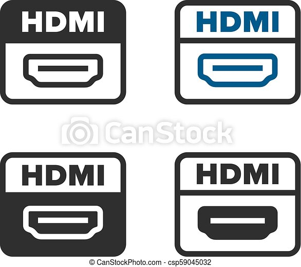 hdmi port icons https www canstockphoto com hdmi port icons 59045032 html