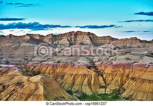 HDR Badlands Formations - csp16951237
