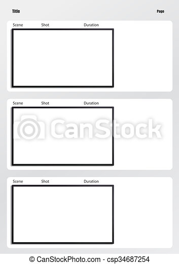 Hdtv Storyboard Template  Frame Professional Of Film  Stock