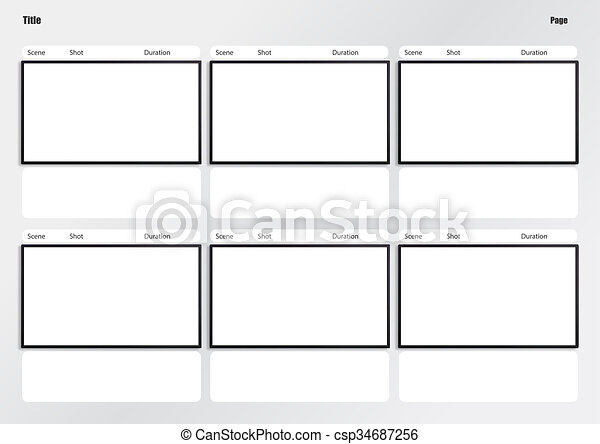 Hdtv Storyboard Template 6 Frame Professional Of Film Storyboard