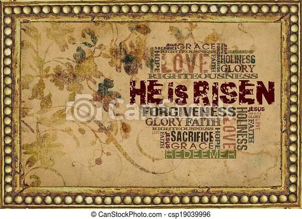 He is risen - csp19039996