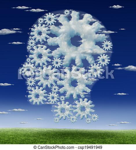 Head And Brain Gears - csp19491949