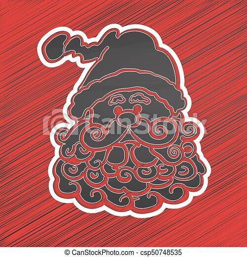 Cabeza de Santa. Sketch en la pizarra - csp50748535