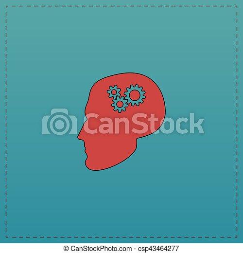 Head gears computer symbol - csp43464277