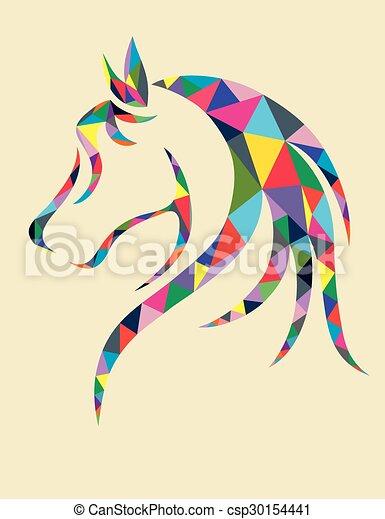 Head Horse Geometric   Csp30154441