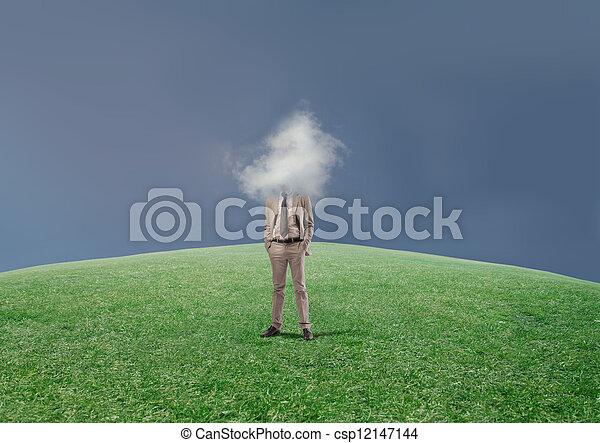 head in the clouds - csp12147144