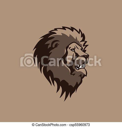head lion illustration vector design. - csp55960973