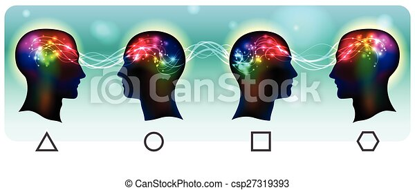 Head Mental Waves - csp27319393