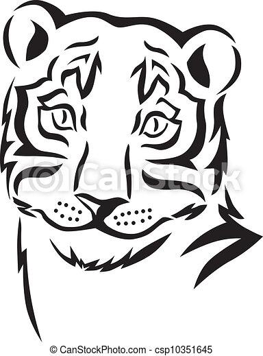 Head of a tiger - csp10351645
