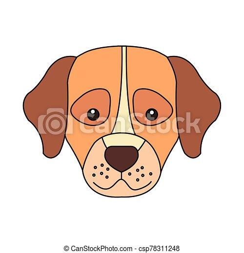 head of cute dog animal isolated icon - csp78311248
