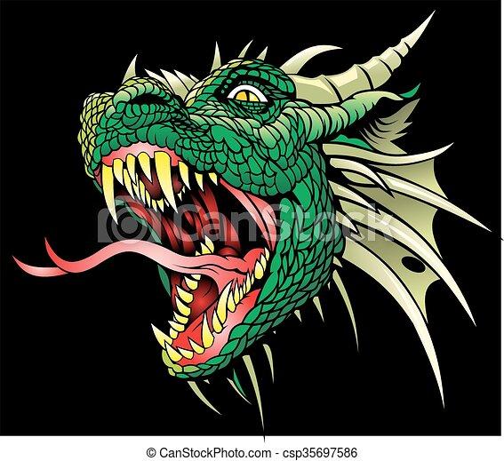 head of dragon - csp35697586