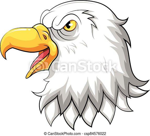 Head of Eagle mascot - csp84576022