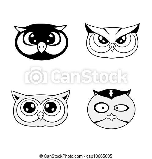 head of owl Illustration - csp10665605