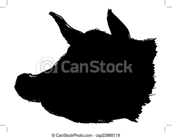 head of pig vector