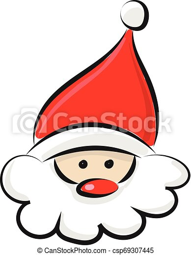 head of santa claus vector or color illustration a coloured drawing of the face of santa claus vector color drawing or https www canstockphoto com head of santa claus vector or color 69307445 html