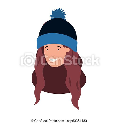 Avatar, girl, hat, profile, scarf, winter, woman icon | 470x450