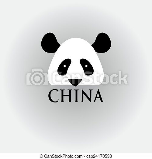 Head Panda Sign Graphic Head Panndy Symbol Of China Vectors