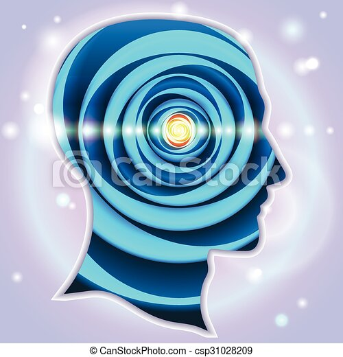 Head Profiles Idea Symbols Pineal gland - csp31028209