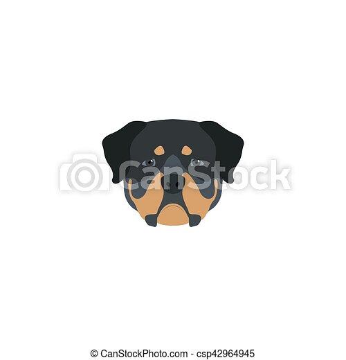 Head rottweiler dog - csp42964945