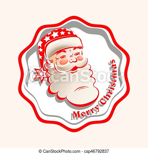 head silhouette of santa claus in the frame csp46792837