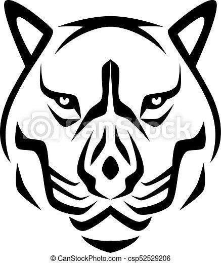 Head Tiger Logo Template Tiger Logo Template Vector Icon Design