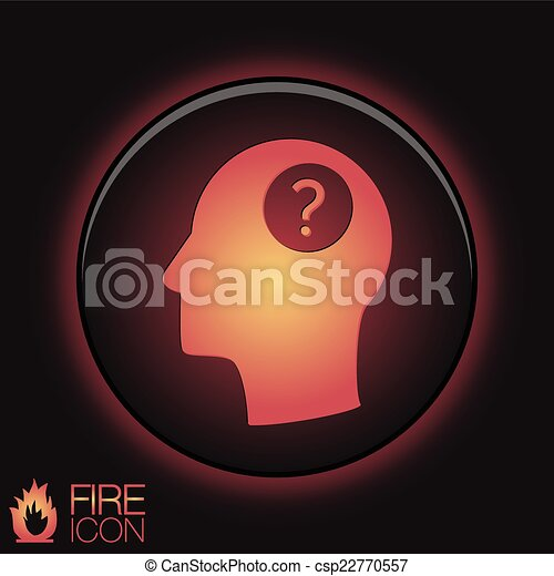 Head with a question mark. Avatar wonders. Icon help - csp22770557