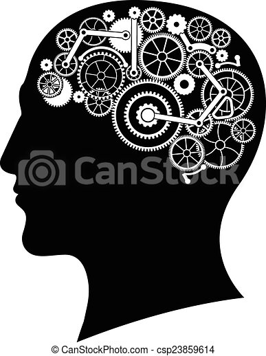head with gear brain vector illustration vector clip art search rh canstockphoto com brain vector images free brain vector art