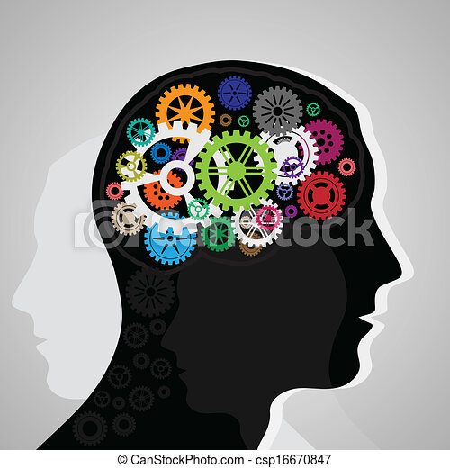 Head with gears - csp16670847