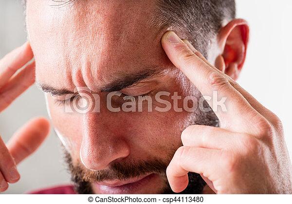 headache or esp mind power - csp44113480